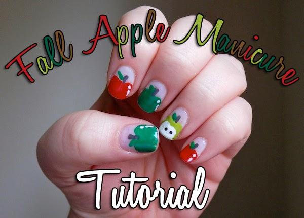 Beauty Fall Apple Manicure Tutorial Neon Rattail