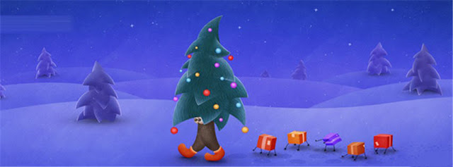 Walking Christmas Tree With Gifts