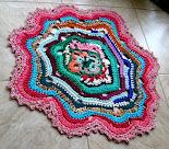 Free Form Crochet -Tapete Formas Livres e Cores 4