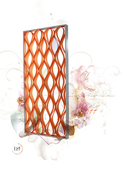 Home decor Groove the room divider LZF