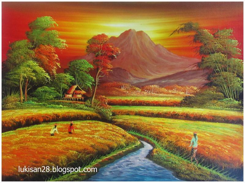 galeri lukisan sawah zona info dunia