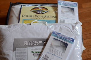 phoenix down 75/25 pillow and double down around pillow