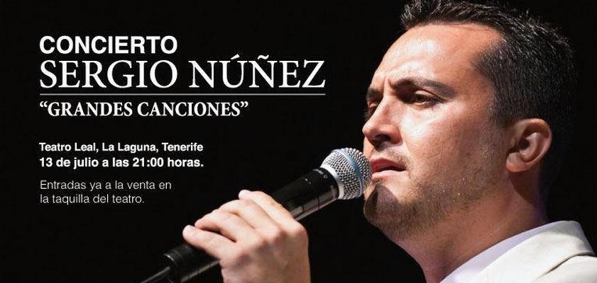 Sergio Núñez cargará de emoción al Teatro Leal de La Laguna el próximo 13 de julio.