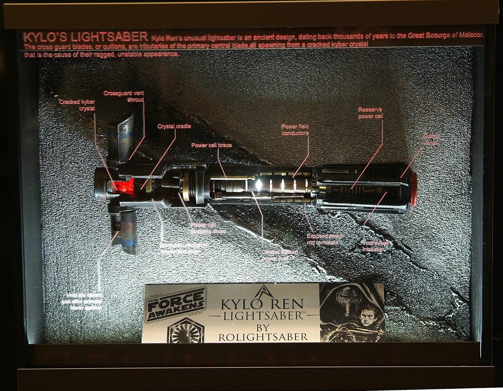 KYLO REN Lightsaber Cutaway