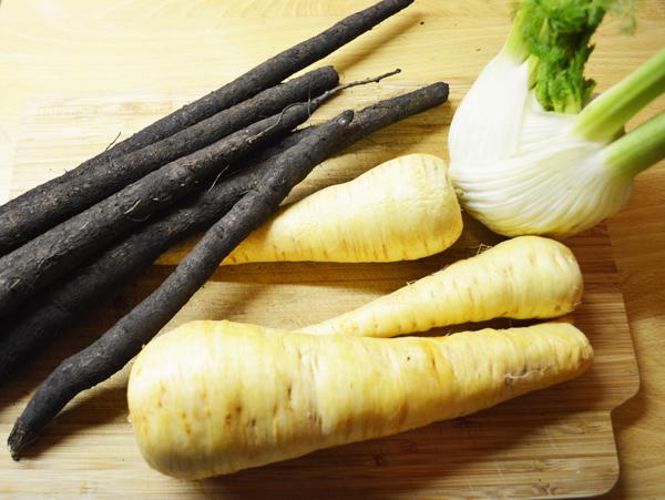 veggies for wintery tartelettes