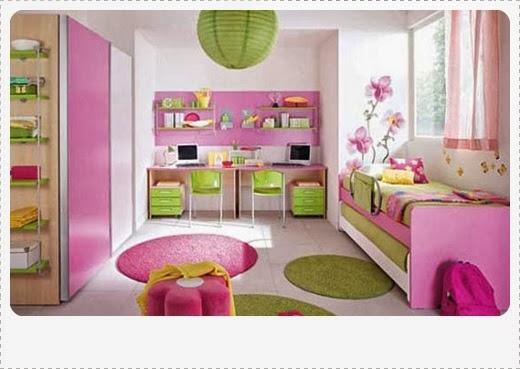 contoh model desain kamar tidur anak perempuan cewek