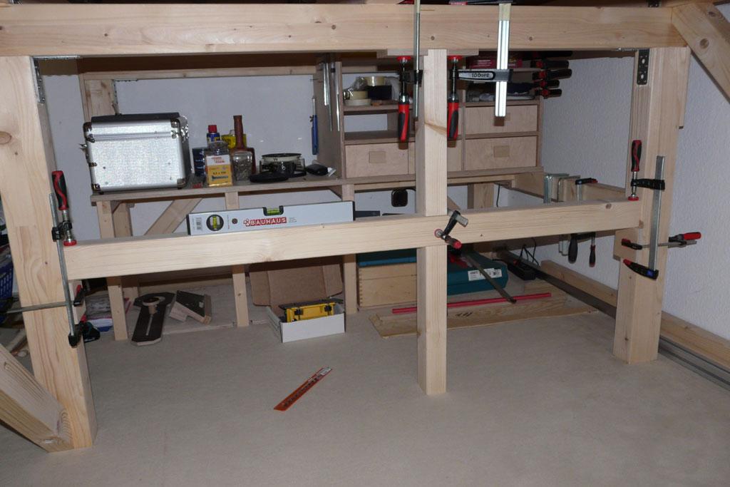 tobi 39 s holzjournal hochbett holzlager. Black Bedroom Furniture Sets. Home Design Ideas