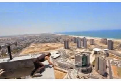 Backflip di Gedung Tinggi, Pria Ini Hampir Kahilangan Nyawa