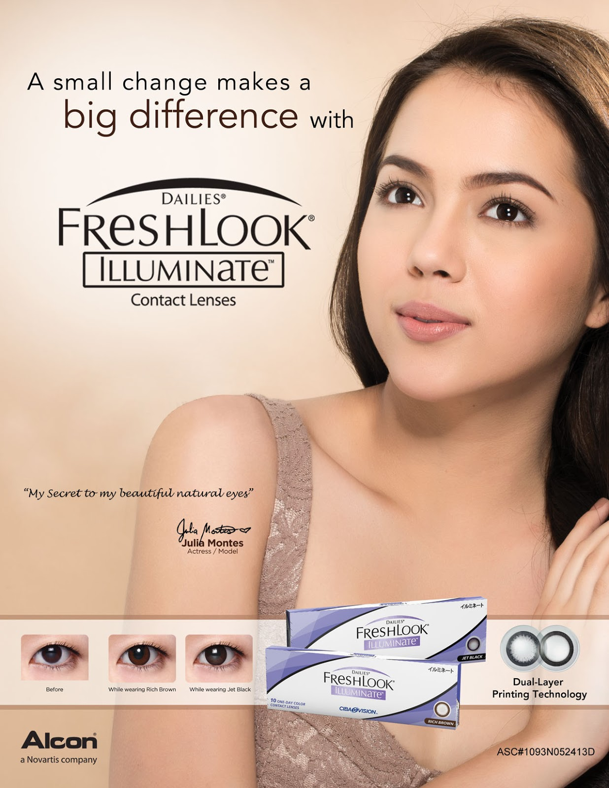 Julia Montes for Freshlook Illuminate Contact Lens