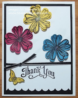 Card made with Stampin'UP!'s Flower Shop Stamp set and Pansy Punch