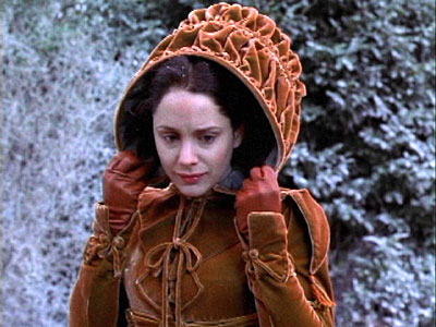 laura fraser as belle notice the regency fashions - A Christmas Carol Movie 1999