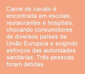 Escândalo da carne de cavalo chega a escolas, hospitais e restaurantes