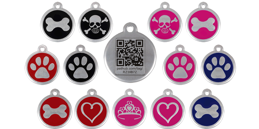 Red Dingo Pet Tags on Red Dingo Dog Harness