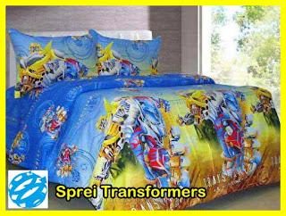 Sprei Karakter Kartun, Sprei Anak Motif Transformers, Sprei Karakter Kartun Murah