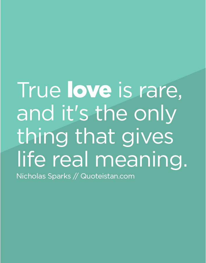 what is the real meaning of true love