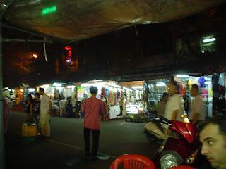 Restaurant street. Ben Thanh Market. Ho Chi Minh. Vietnam