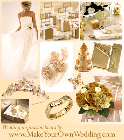 Gold Wedding Decorations: Theme Wedding Decorations, Wedding