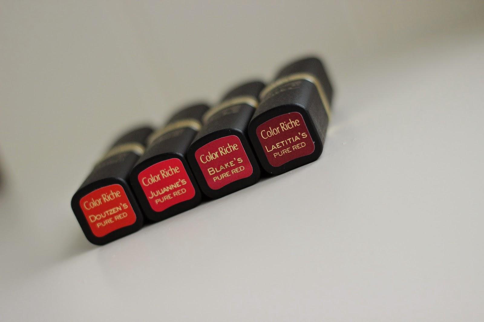 l'oréal color riche collection exclusive pure red