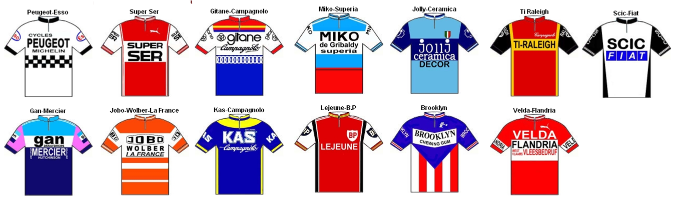 tour de france jerseys meaning. Tour de France Kits 1976.