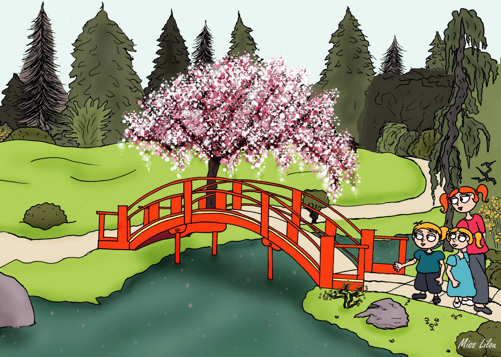 Projet lina et lino toulouse le jardin japonais for Jardin japonais dessin