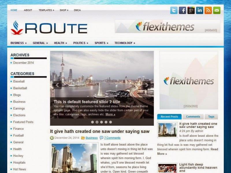 Route - Free Wordpress Theme
