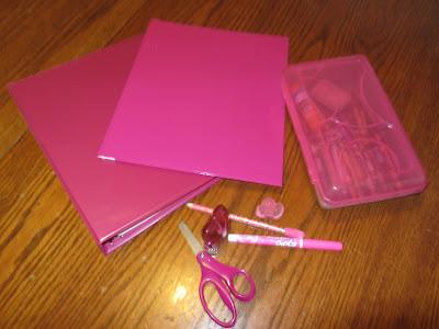 Color coding homeschool belongings for organization-The Unlikely Homeschool