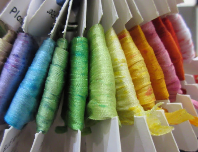 Rainbow ribbon - Knitting and Stitching Show