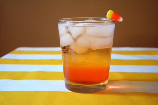 candy corn vodka tonic