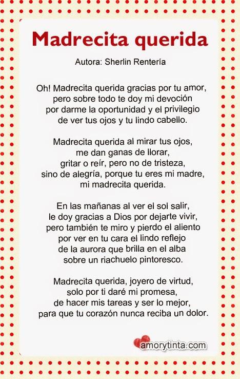 imagen con lindo poema para mamá