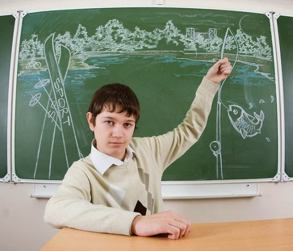Chalkboard Yearbook Portraits