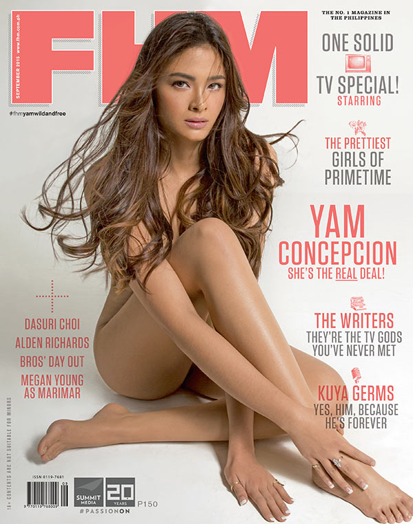 Yam Concepcion on the cover of FHM September 2015 issue