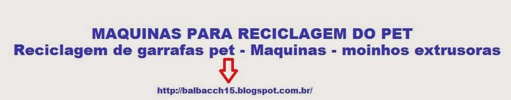 MAQUINAS PARA RECICLAGEM