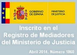 Mediador inscrito en Registro del Ministerio de Justicia