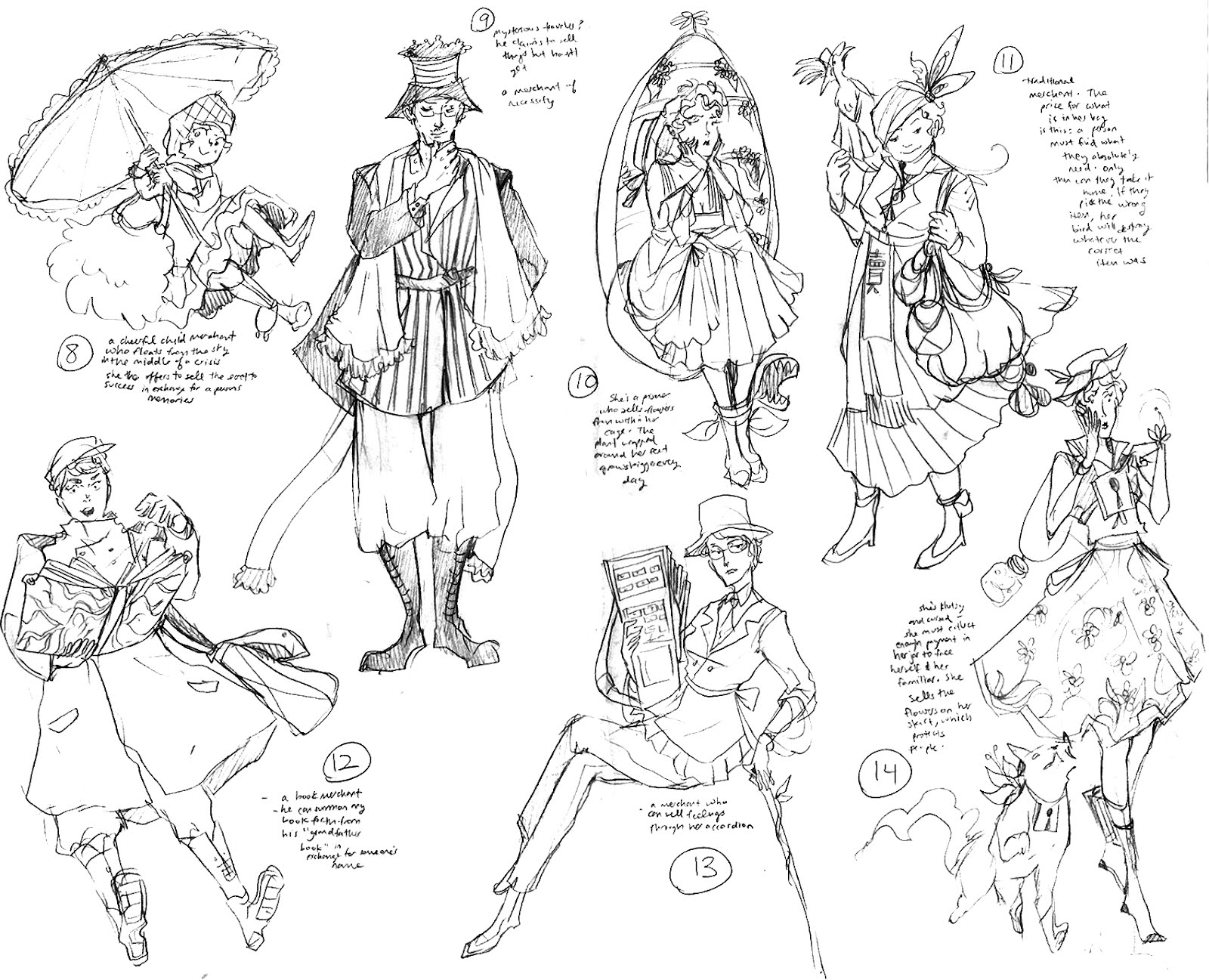 Character Design Concept Sketches : Mica concept art il spring character