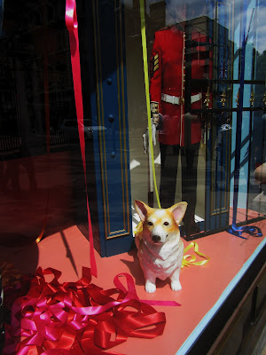 Selfridges Jubilee 2012 windows: Corgi time