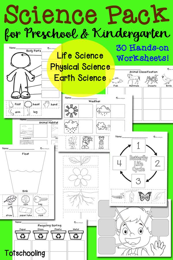 Free science worksheets for preschoolers