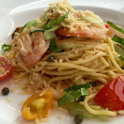 Fresh Pasta with Louisiana Shrimp at Nino's Italian