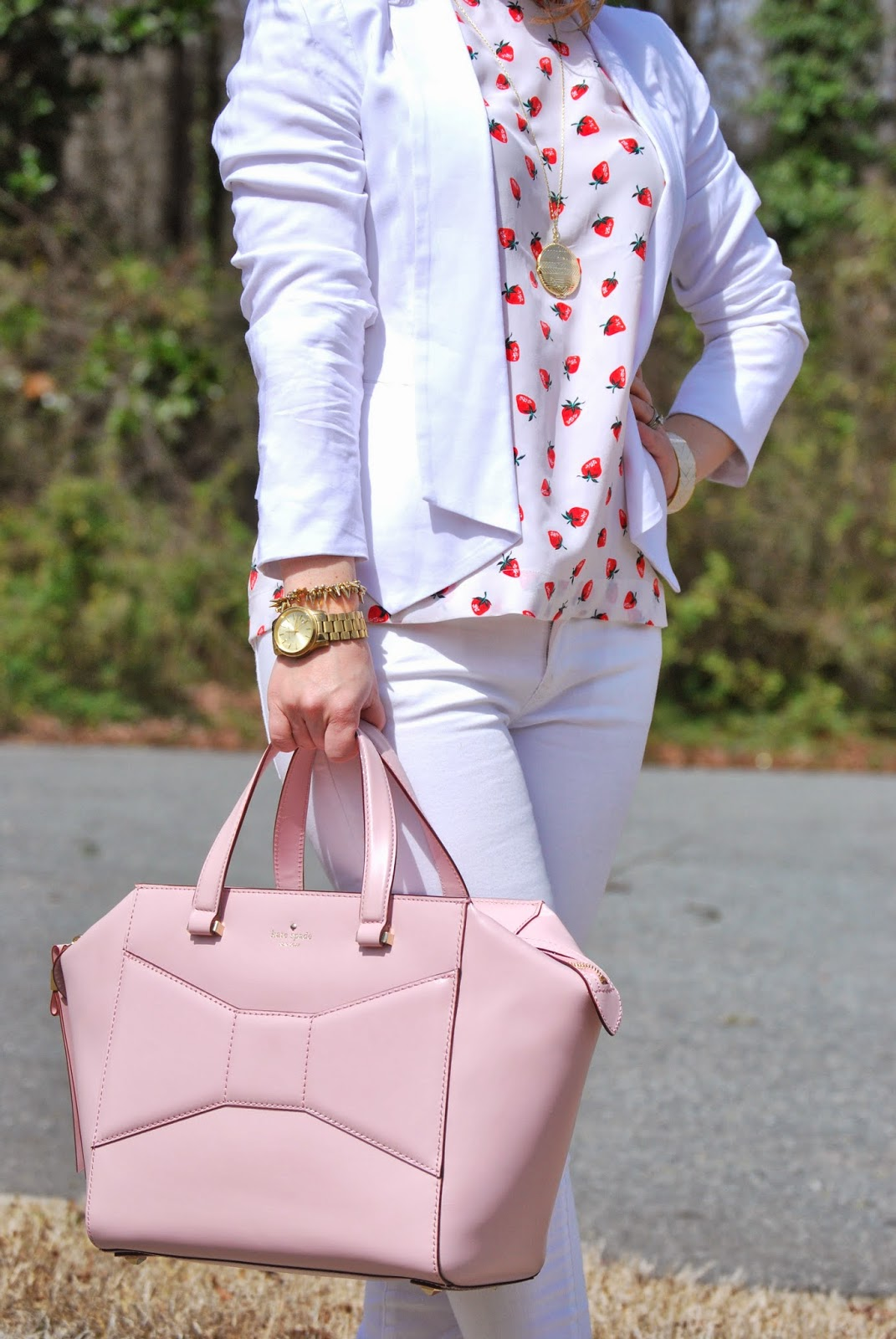 Equipment, strawberries, Loeffler Randall, Kate Spade, Beau Bag, Gap, Micheal Kors, Stella and Dot