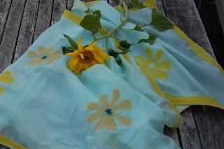 Filtet silketørklæde Girasole
