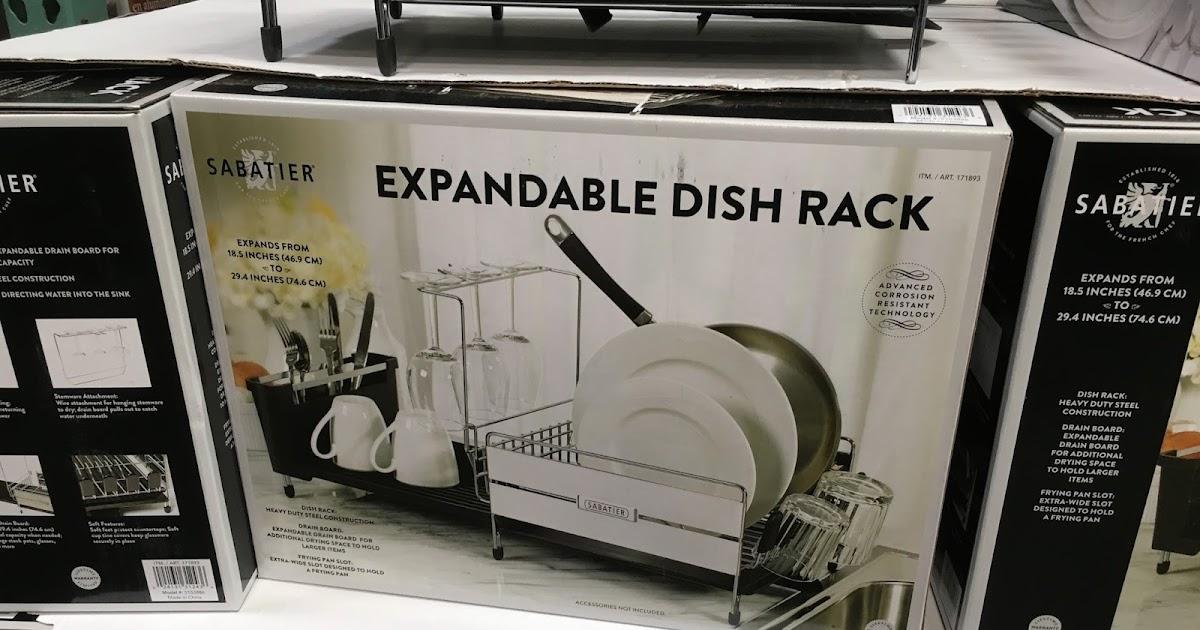 Sabatier Dish Rack Enchanting Sabatier Stainless Steel Expandable Dish Rack Costco Weekender