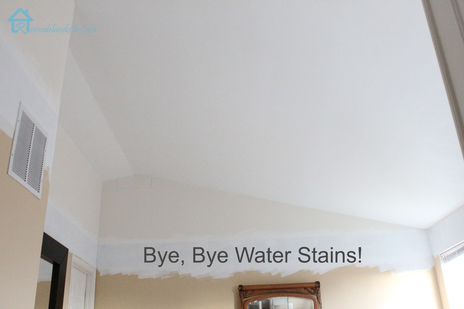 How to remove water stain from ceiling without painting for How to remove popcorn ceiling without water