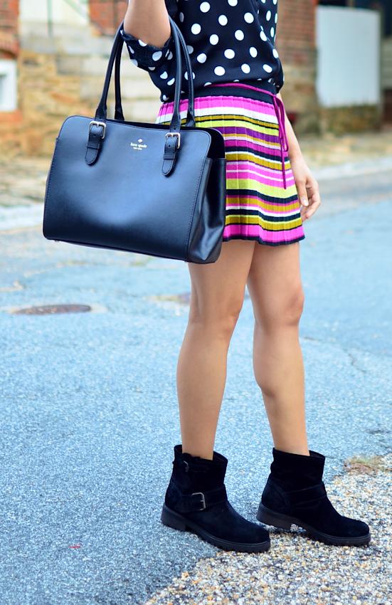 Biker boots with a skirt