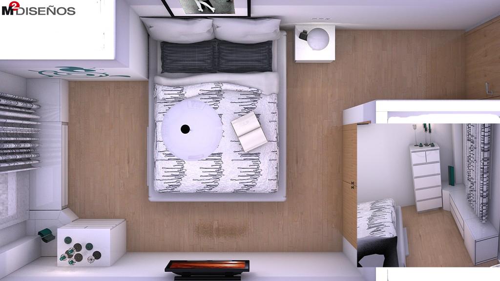 Dormitorio de matrimonio de estilo n rdico m dise os - Habitacion con tocador ...