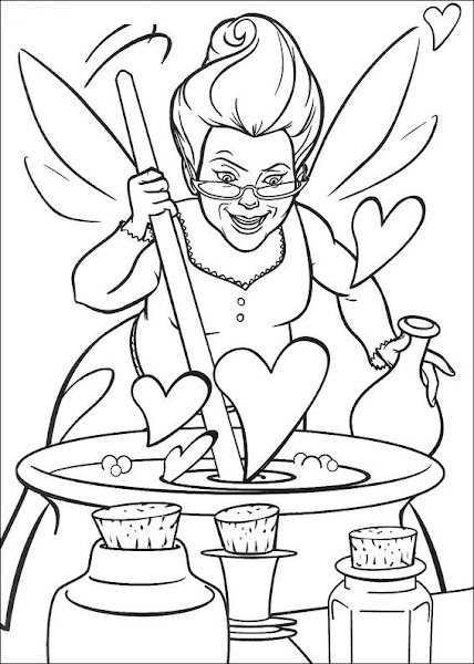 Shrek And Fiona Printable Coloring Pages
