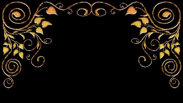 Molduras arabescos dourados 30A png