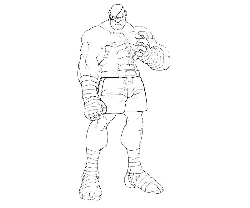 street-fighter-sagat-character-coloring-pages