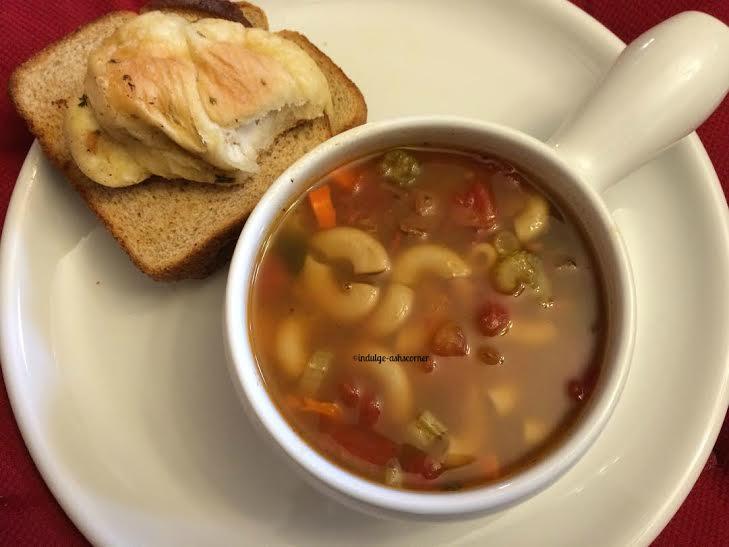 Indulgeashscorner Minestrone Soup Slow Cooker Recipe