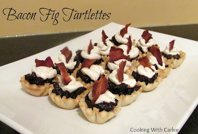 Bacon Fig Tartlettes, shared by Cooking with Carlee