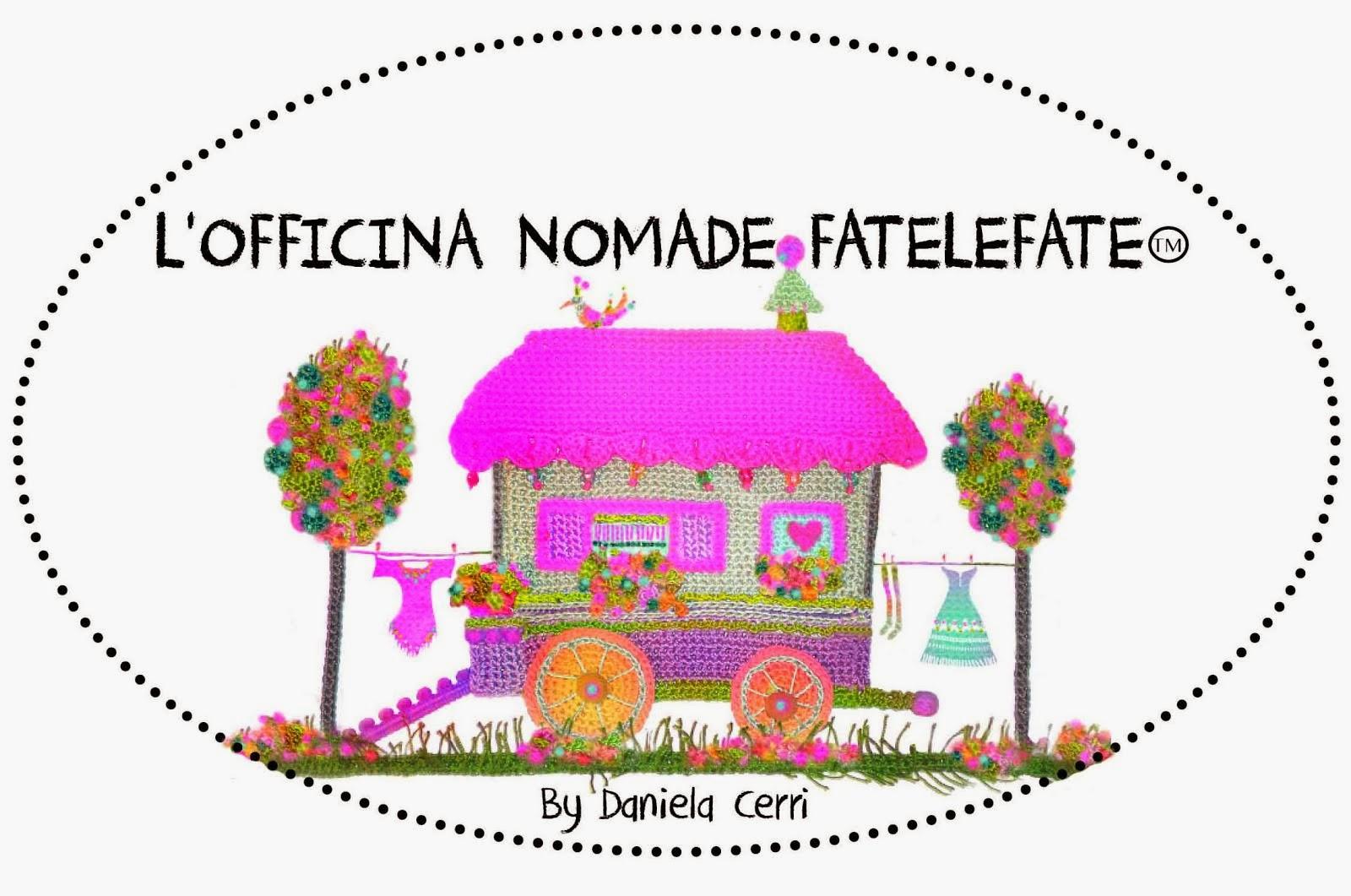 NUOVO LOGO L'OFFICINA NOMADE FATELEFATE FATELEFATE P.IVA n. 07252250969