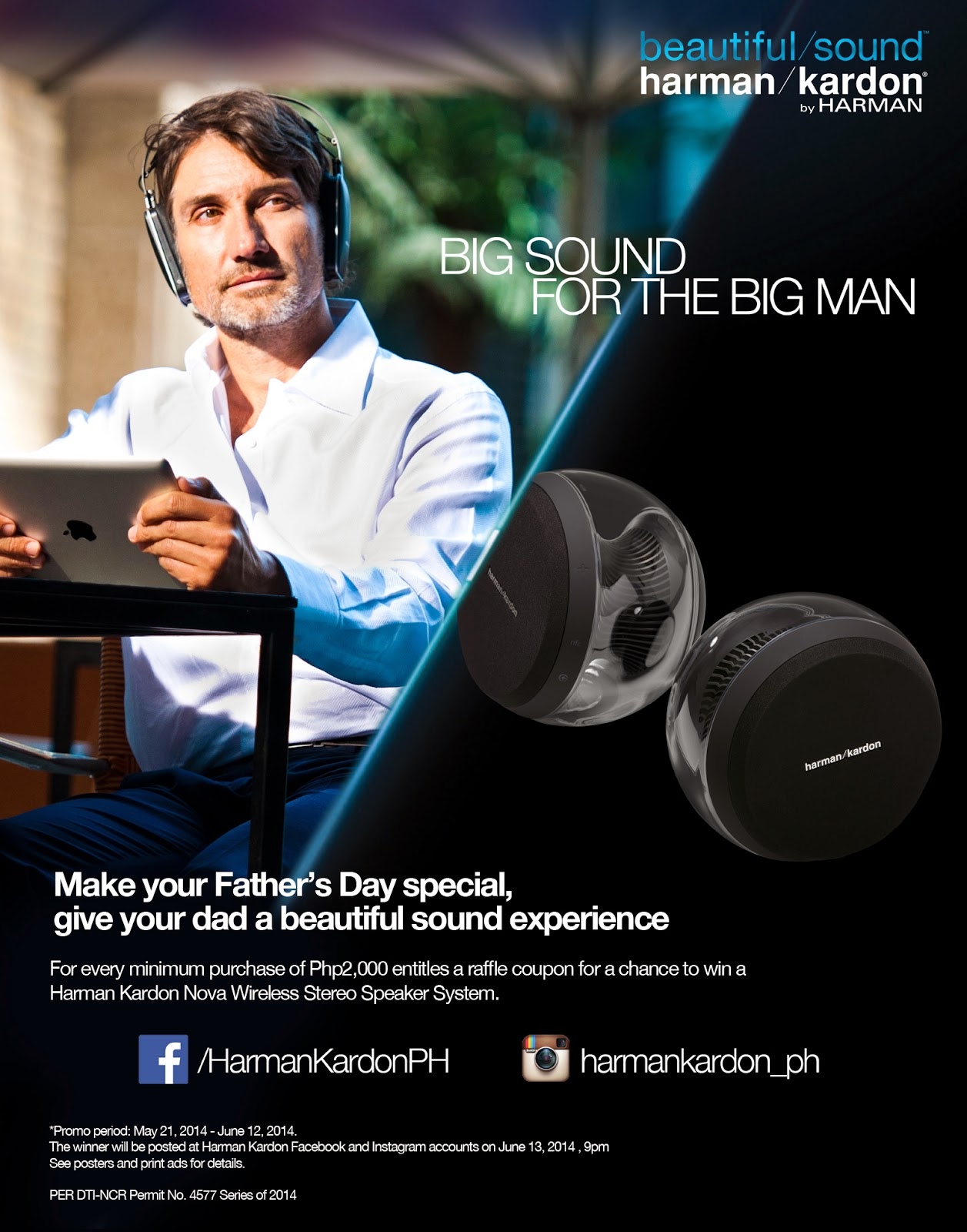 Harman Kardon Father's Day contest poster